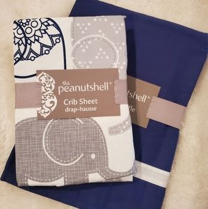 NWT Infant Crib Sheet and Ruffle Set